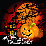 Halloween Background  pumpkin Royalty Free Stock Photo