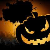 Halloween background. Pumpkin autumn banner greeting illustration Stock Images