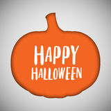 Halloween background pumpkin cut out shape Stock Image
