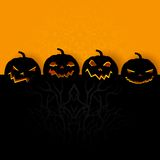 Halloween Background with Pumpkin Royalty Free Stock Photos