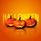 Halloween background Pumpkin Face expression Royalty Free Stock Images