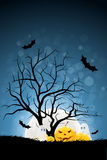 Halloween Background with Pumpkin and Ghost Royalty Free Stock Photography