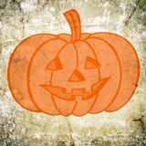 Halloween background. Pumpkin icon on old paper background and pattern stock photos