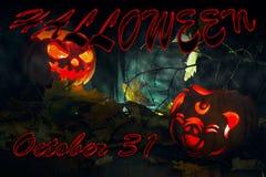 Halloween background. Pumpkin jack lamp stock image