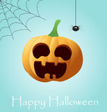 Halloween Background with Pumpkin. Halloween Background with orange Pumpkin, vector illustration Stock Photography