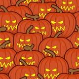 Halloween background. Pumpkin seamless pattern. Scary vegetable Stock Photos