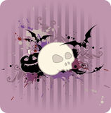 Halloween background with pumpkin and skull Stock Photo