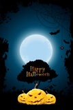 Halloween Background with Pumpkin and Tree Royalty Free Stock Photography