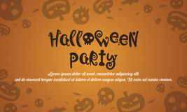 Halloween background with pumpkin. Vector art illustration Royalty Free Stock Images
