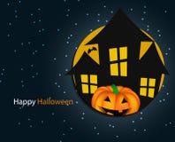 Halloween Background with Pumpkin Vector Stock Image