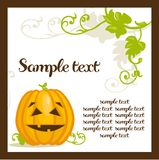 Halloween background with pumpkins Stock Photos