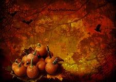 Halloween background with pumpkins vector illustration