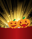 Halloween Background. A halloween background with pumpkins Royalty Free Stock Photography