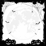 Halloween background with pumpkins and bats Royalty Free Stock Image