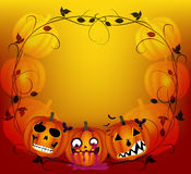 Halloween background with pumpkins Stock Images