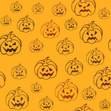 Halloween background with pumpkins Royalty Free Stock Photo