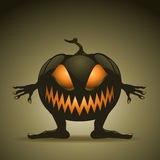 Halloween background with pumpkins Royalty Free Stock Photos