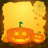 Halloween background with pumpkins. Stock Photos