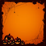 Halloween background with pumpkins Royalty Free Stock Photography
