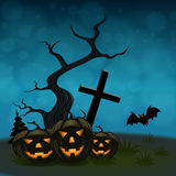 Halloween background with pumpkins Royalty Free Stock Images