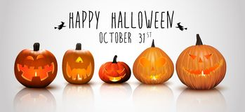 Halloween background Pumpkins Stock Images