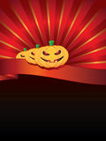 Halloween background with pumpkins on ribbon Royalty Free Stock Photos