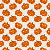 Halloween background with pumpkins. Vector seamless pattern. Halloween background with pumpkins. Traditional jack-o`-lantern symbol. Vector seamless pattern Stock Photography