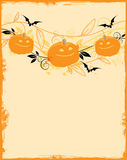 Halloween background with pumpkins Royalty Free Stock Image