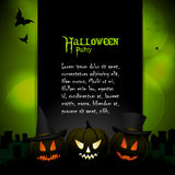 Halloween background with sample text Royalty Free Stock Photography
