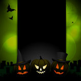 Halloween background with sample text cao Royalty Free Stock Photos