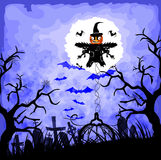halloween background with scarecrow Royalty Free Stock Photos