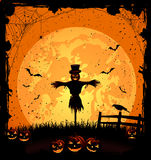 Halloween background with scarecrow Royalty Free Stock Image
