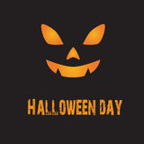 Halloween background. The scary face on the blackground show as Halloween day Royalty Free Stock Images