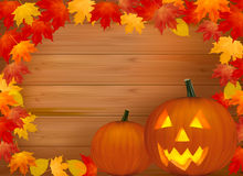 Halloween background with scary pumpkin. Vector Royalty Free Stock Image