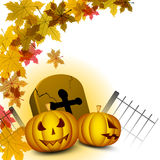 Halloween background with scary pumpkin Royalty Free Stock Photo