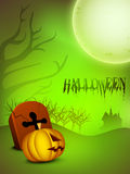 Halloween background with scary pumpkin Royalty Free Stock Photos