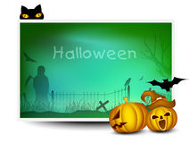 Halloween background with scary pumpkins. Stock Photography