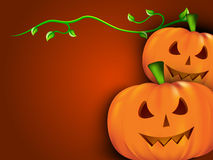Halloween background with scary pumpkins. Royalty Free Stock Photo