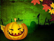 Halloween background with scary pumpkins. Royalty Free Stock Photos