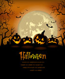 Halloween background with scary pumpkins Royalty Free Stock Photos