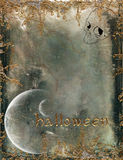 Halloween background. Scary Halloween background with skull and metallic adds Stock Photos