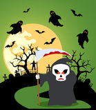 Halloween background with Scytheman Stock Photography