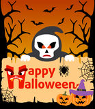 Halloween background with Scytheman vector Stock Photos