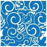 Halloween background seamless pattern  illustration. Paper Stock Photos