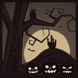 Halloween Background. Season Halloween background template, vector illustration Stock Photos