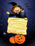 Halloween background with sign Stock Images