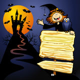 Halloween background with sign Royalty Free Stock Photo