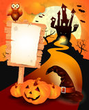 Halloween background with sign Royalty Free Stock Images
