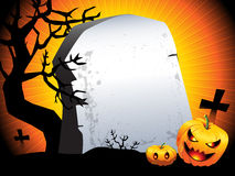 Halloween background. Halloween sinister pumpkins background with space for text Stock Photos