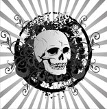 Halloween background with skull Stock Photography
